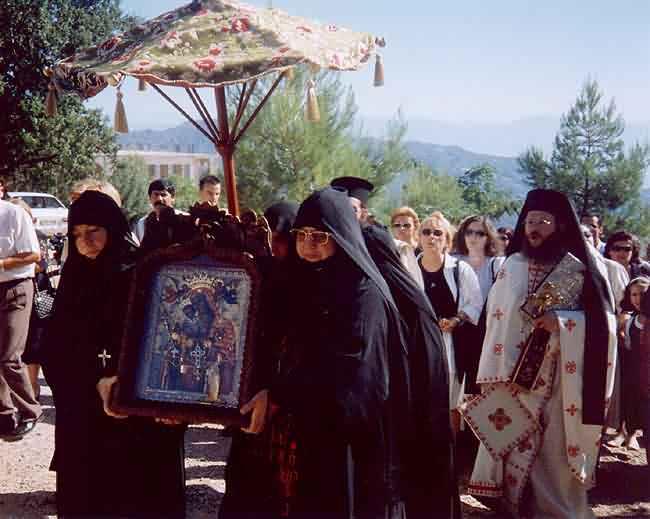 Ιερό Προσκήνυμα στην Ι.Μ. Παναγίας Ελεούσης Σαλμενίκου Αιγίου